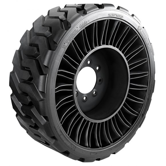 Michelin's X Tweel SSL performs like a pneumatic tyre, but without the risk and downtime associated with punctures and impact damage.
