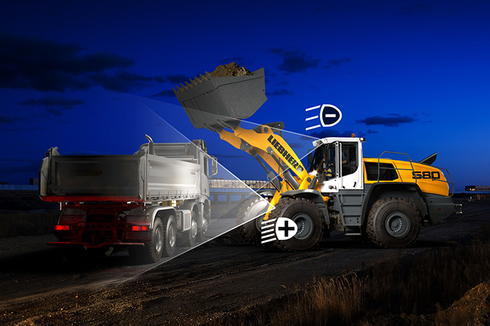 Assistance systems for the Liebherr wheel loaders